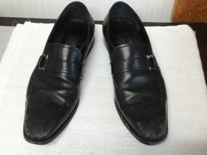 紳士革靴が蘇りますビフォー