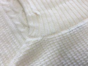 タートルネックセーターのほつれ修理アフター