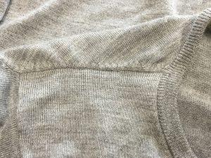 セーターのほつれお直しアフター