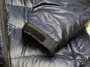 ダウンブルゾン焦げ穴修理アフター