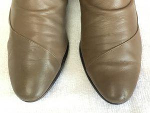 レディース革靴の色ハゲアフター