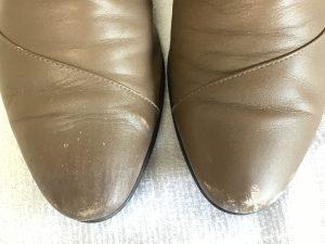 レディース革靴の色ハゲビフォー