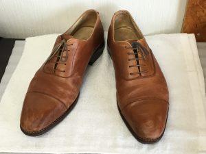 紳士革靴もクリーニングビフォー