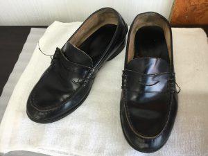 学生靴のお手入れビフォー