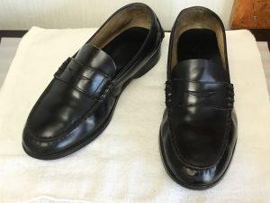 学生靴のお手入れアフター