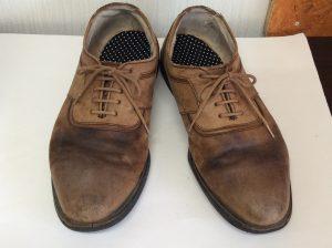 紳士革靴も元気に!ビフォー