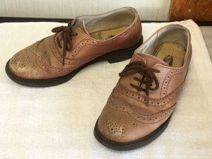 婦人革靴の色ハゲ補修ビフォー