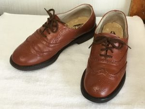 婦人革靴の色ハゲ補修アフター