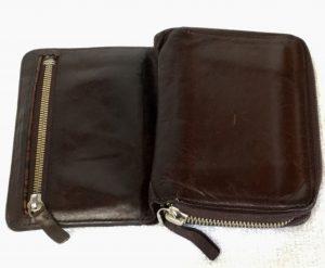 財布のファスナーお直しと泡洗浄アフター