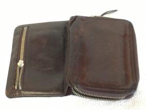 財布のファスナーお直しと泡洗浄ビフォー