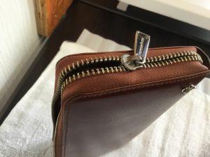 長財布のファスナートラブルビフォー