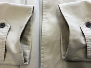 コート袖口の擦り切れお直しアフター