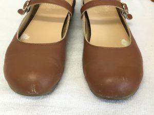 レディースヌメ革靴のお手入れビフォー