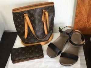 バッグや財布やサンダルのお手入れビフォー