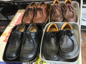 メンズ革靴クリーニングビフォー