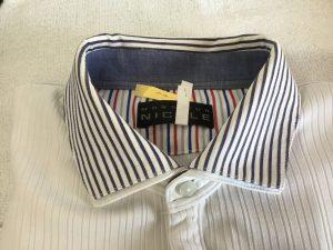 ポロシャツのエリ黄ばみアフター