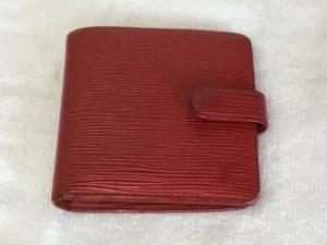 二つ折り財布のお手入れビフォー