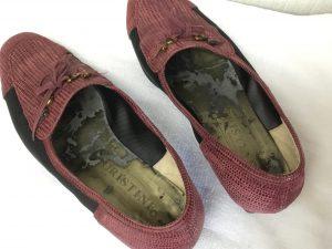 レディース靴の中敷交換ビフォー