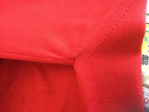 セーターの脇の穴修理アフター