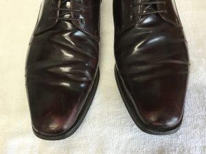 紳士革靴の色ハゲビフォー