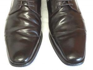 紳士革靴の色ハゲアフター