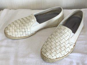 レディースレザー靴クリーニングビフォー