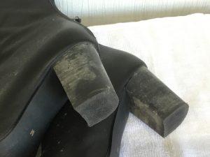 カビの生えたブーツクリーニングビフォー