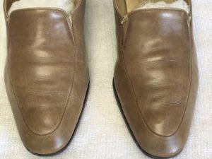 婦人革靴のお手入れアフター