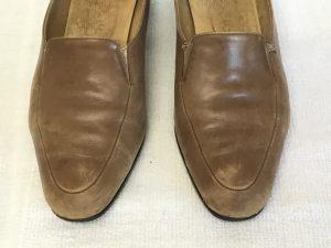婦人革靴のお手入れビフォー